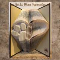 Heart with Paw Print Book Sculpture thumbnail