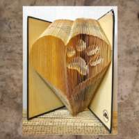 Heart with Inverted Paw Print Book Sculpture thumbnail