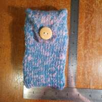 Blue and Pink Phone Pouch thumbnail