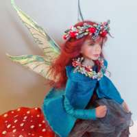 Fairy Sitting Among Mushrooms thumbnail