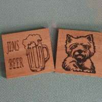 Personalised Wooden Coaster thumbnail