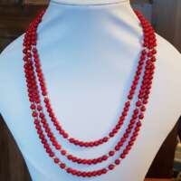 Three Tier Coral Necklace thumbnail