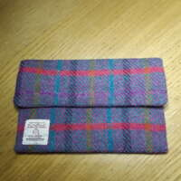 Small Red Stripe Harris Tweed Make-up Bag thumbnail