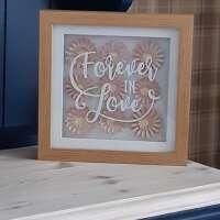 """3D Pink Flower """"Forever In Love"""" Box Frame thumbnail"""