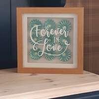 """3D Blue Flower """"Forever In Love"""" Box Frame thumbnail"""