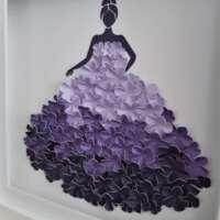 "3D Purple Flower ""Ball Gown"" Box Frame thumbnail"