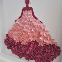 """3D Pink Flower """"Ball Gown"""" Box Frame thumbnail"""