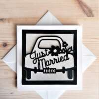 """""""Just Married"""" Wedding Card thumbnail"""