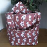 Red Westie Tote Bag thumbnail