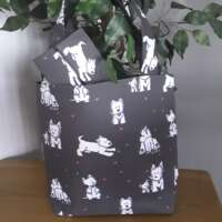 Westie Tote Bag with Hearts thumbnail