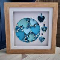 """Quilled """"Full Moon and Hearts"""" Box Frame thumbnail"""