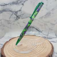Purple & Green Resin Slimline Pen with Green Finish thumbnail
