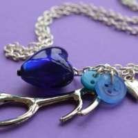 Dark Blue Long Antler Necklace thumbnail