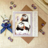 Have a Perfect Day Puffins Greeting Card thumbnail