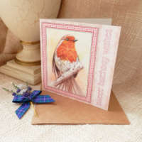 Sweet Birthday Wishes Robin Greeting Card thumbnail