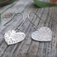 Honeysuckle Heart Earrings thumbnail