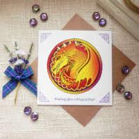 Celtic Knot Dragon Greeting Card thumbnail