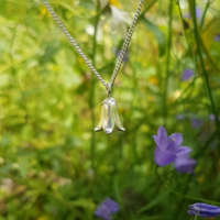 Harebell Flower Necklace and Earrings Set thumbnail