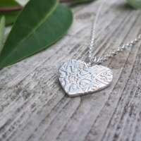 Honeysuckle Heart Necklace thumbnail