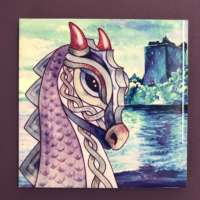Purple Nessie Ceramic Tile thumbnail