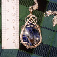 Sodalite Gemstone Teardrop Necklace thumbnail