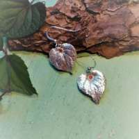 Silver Violet Leaf Earrings thumbnail