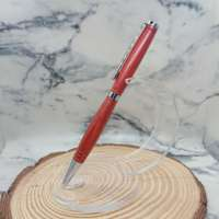 Redheart Wood Slimline Pen with Silver Chrome Finish thumbnail