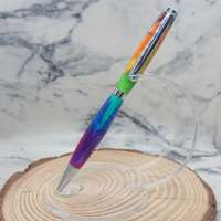 Resin Rainbow Pen with Chrome Silver Finish thumbnail