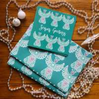 Celtic Christmas Angel Card & Wrapping Paper Set thumbnail