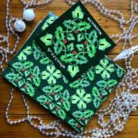 Celtic Holly and Ivy Card & Wrapping Paper Set thumbnail