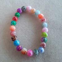 Children's Multi Coloured Stretch Bead Bracelet thumbnail