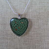 Heart Pendant in Blues and Greens thumbnail