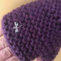 Deep Purple Wrist Warmers thumbnail