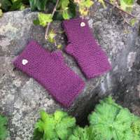 Purple Wrist Warmers thumbnail