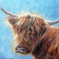 Highland Cow Greetings Card thumbnail