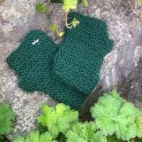 Dark Green Wrist Warmers thumbnail
