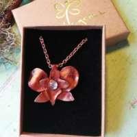 Copper Orchid Pendant thumbnail