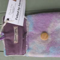 Medium Marble Felted Purse thumbnail
