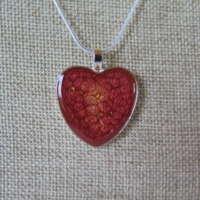Heart Pendant in Crimson Red thumbnail