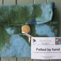 Large Marble Felted Purse thumbnail