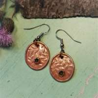Bronze Falling Leaves Oval Earrings thumbnail