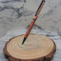 African Rosewood Slimline Pen with Gun Metal Finish thumbnail