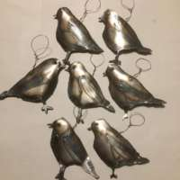 Lacquered Steel Robin Decoration thumbnail