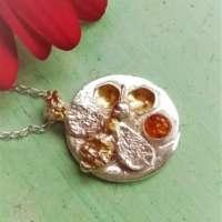 Silver Honey Bee Pendant thumbnail