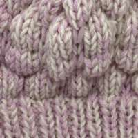 Hand Knitted Pink & White Wool & Alpaca Woolie Hat thumbnail