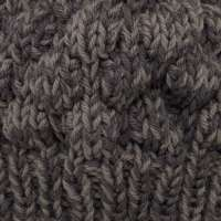Hand Knitted Brown Mix Wool & Alpaca Woolie Hat thumbnail