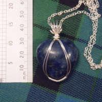 Sodalite Heart Gemstone Necklace thumbnail