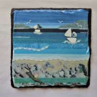 Sailing in the Hebridean Colours Slate Small thumbnail