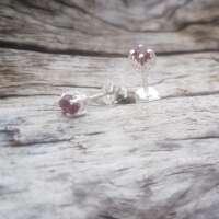 Glenshiel Garnet Silver Earrings thumbnail