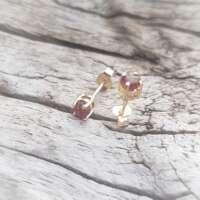 Glenshiel Garnet Gold Earrings thumbnail